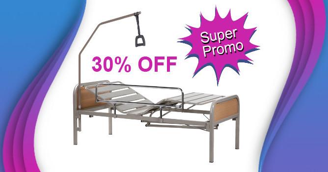 Promo 30% de descuento en cama ortopedica eléctrica