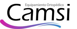 Logo Camsi, Fábrica de Equipamientos Ortopédicos. Camas Ortopédicas y Articuladas, Sillas de Ruedas y Equipamiento de Rehabilitación y Ortopédico Hospitalario
